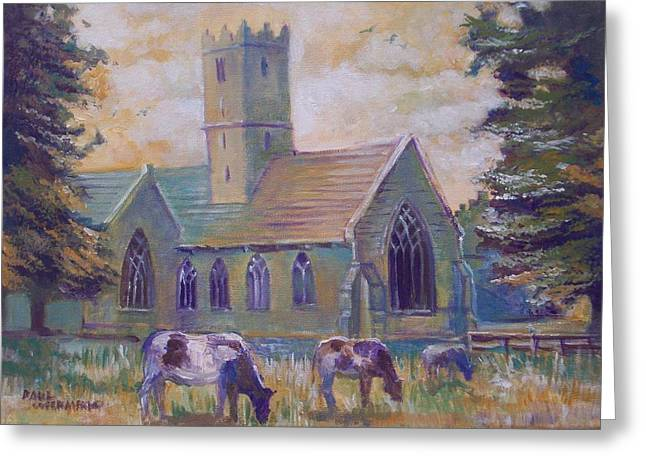 Greeting Card featuring the painting Church In Adare by Paul Weerasekera