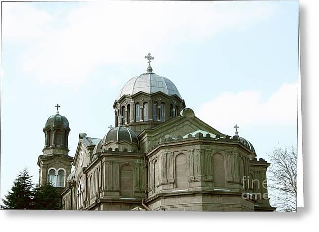 Church In Burgas  Greeting Card by Lali Kacharava