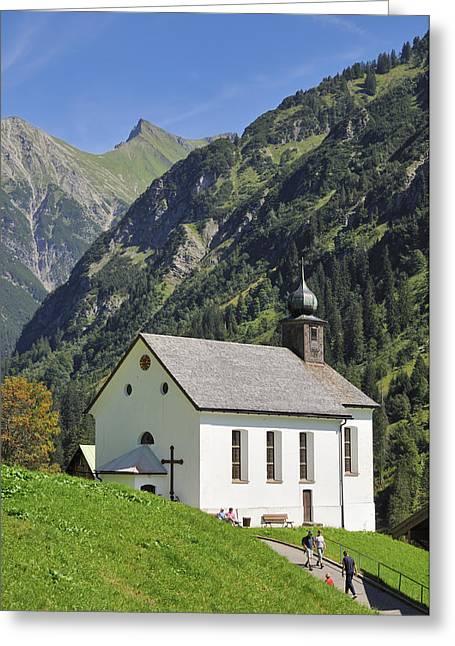 Church In Kleinwalsertal Valley Austria Greeting Card by Matthias Hauser