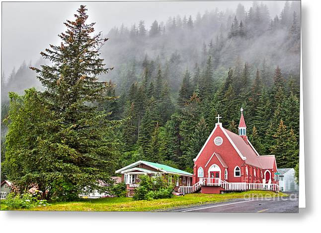 Church In Seward Alaska Greeting Card