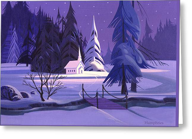 Church In Snow Greeting Card