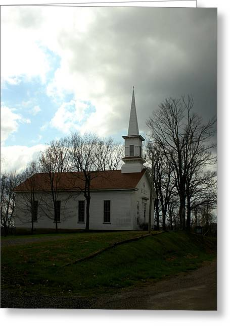 Church In The Country Greeting Card