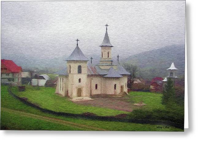 Church In The Mist Greeting Card