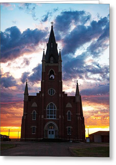 Greeting Card featuring the photograph Silouette Of Faith by Shirley Heier