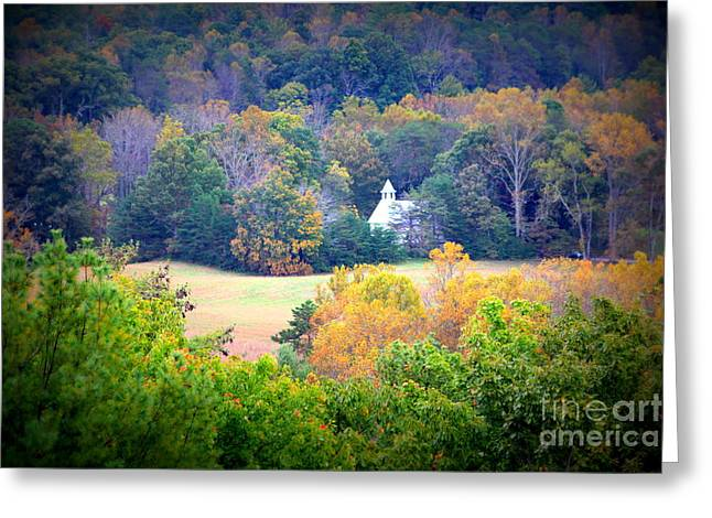 Cades Cove Church In The Woods Greeting Card