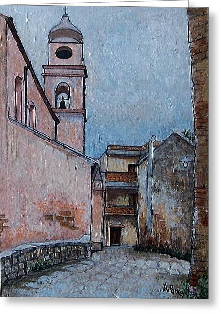 Church In Tursi Greeting Card by Anne Parker
