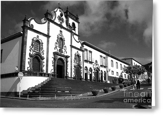 Church In Vila Franca Do Campo Greeting Card by Gaspar Avila