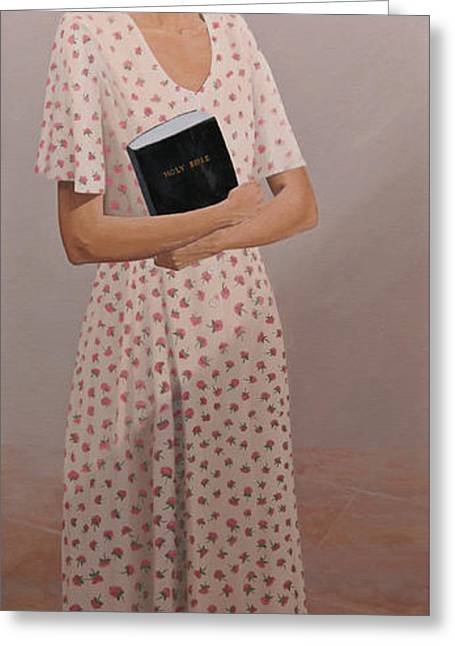 Church Lady Greeting Card