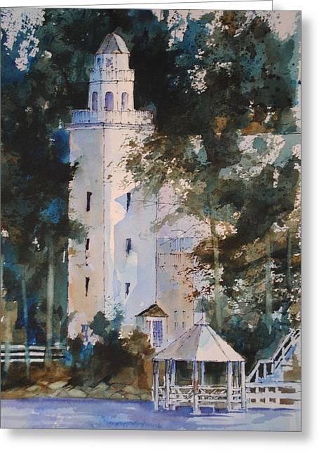 Church Landing Greeting Card by Christine Hodecker-George