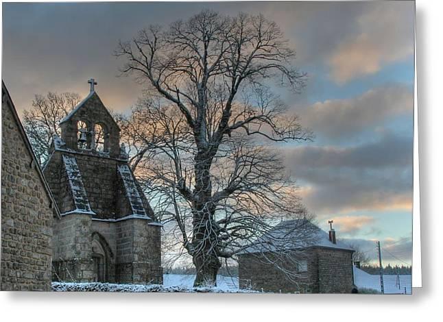 Church Greeting Card by Lepercq Veronique