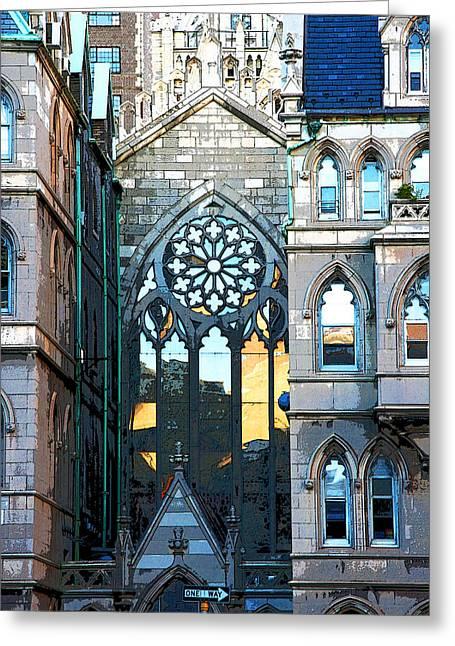 Church Light New York City Greeting Card By David Leiman