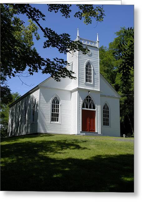 Church Greeting Card by Norman Pogson