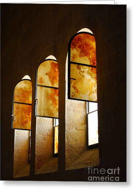 Church Of Heptapegon In Israel Greeting Card