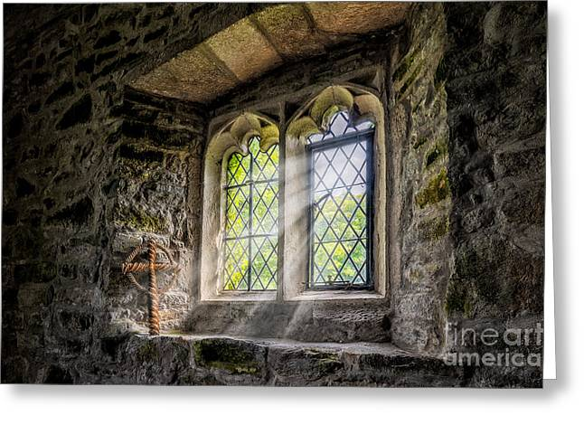 Church Of Light Greeting Card by Adrian Evans