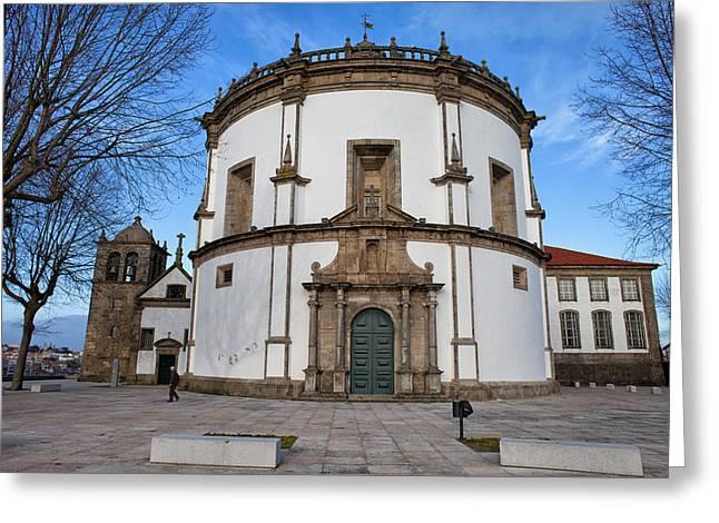 Church Of Monastery Of Serra Do Pilar In Portugal Greeting Card by Artur Bogacki