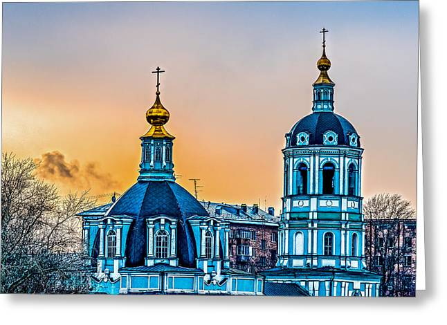 Church Of Saint Nicholas Greeting Card by Alexander Senin