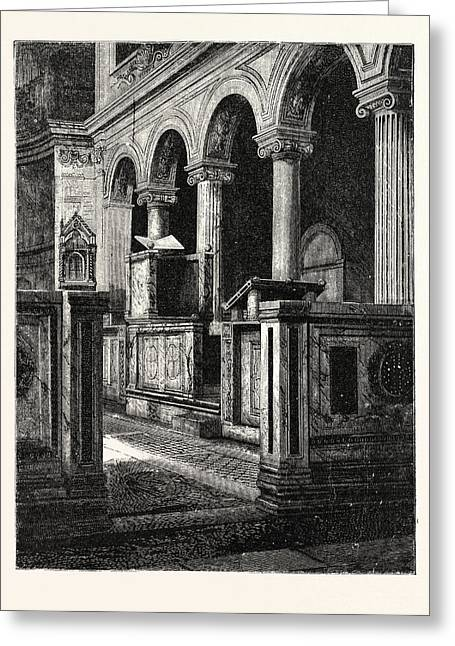 Church Of St. Clemente Greeting Card by Italian School