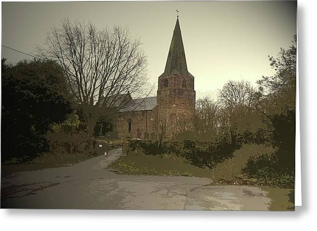 Church Of St Giles In Sandiacre, Medieval Church Which Greeting Card by Litz Collection