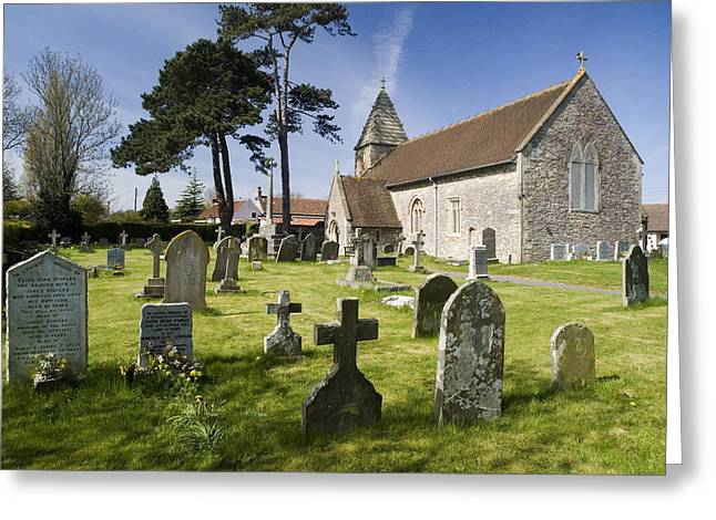 Church Of St John The Evangelist - Kenn - North Somerset Greeting Card by Rachel Down