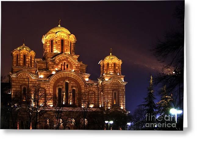 Church Of Sveti Marko Greeting Card by Zoran Berdjan