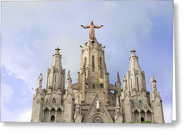 Church Of The Sacred Heart Tibidabo Barcelona  Greeting Card