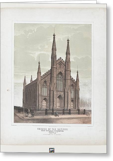 Church Of The Saviour First Unitarian Greeting Card by Ezra Bisbee