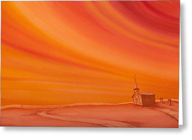 Church On The Edge Greeting Card by Scott Kirby