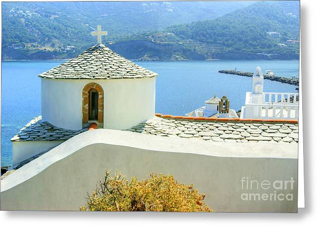 Church On The Hill Greeting Card by David Birchall