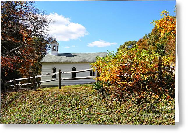 Church On The Mountain Greeting Card by Thomas R Fletcher