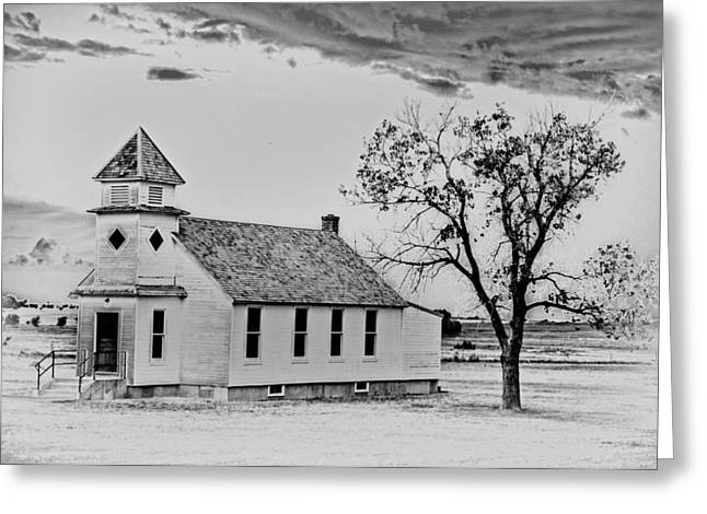 Church On The Plains Greeting Card by Marty Koch