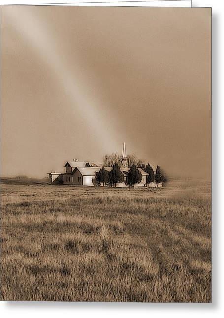 Church On The Prairie Greeting Card