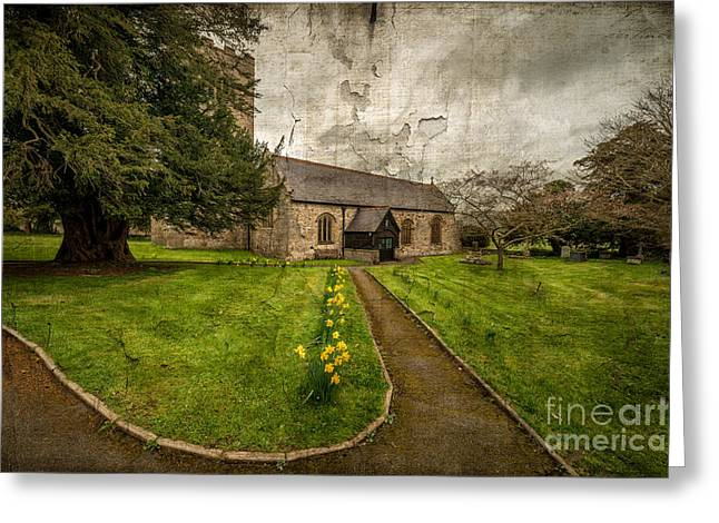 Church Path Greeting Card by Adrian Evans