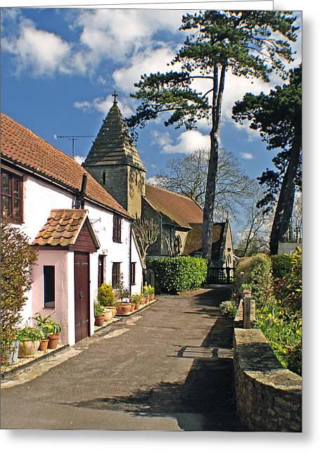 Church Path - Kenn - Somerset Greeting Card by Rachel Down