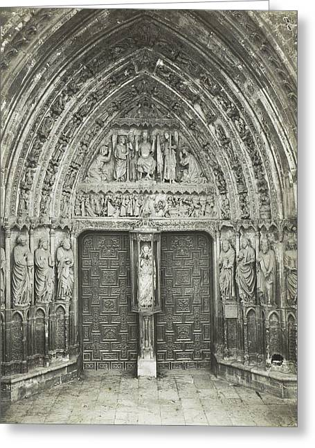 Church Portal With Sculptures, Anonymous Greeting Card by Artokoloro