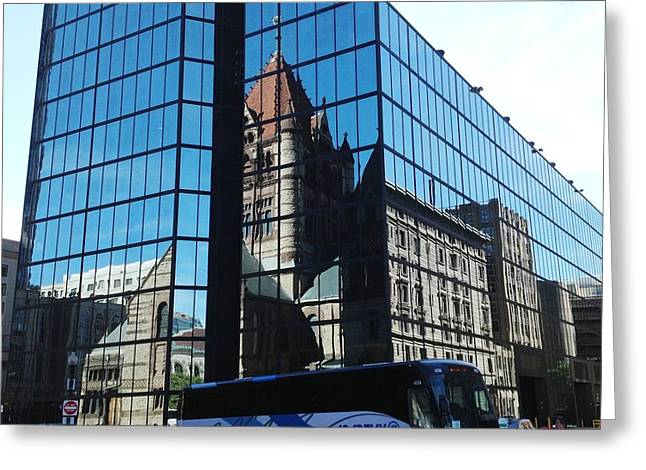 Church Reflection Boston Greeting Card