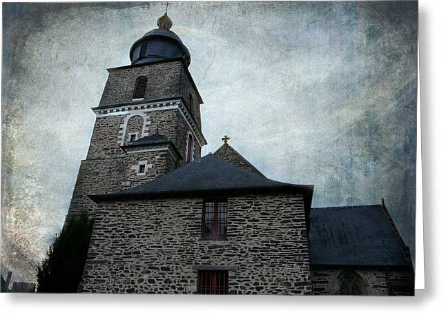 Church Saint Malo Greeting Card