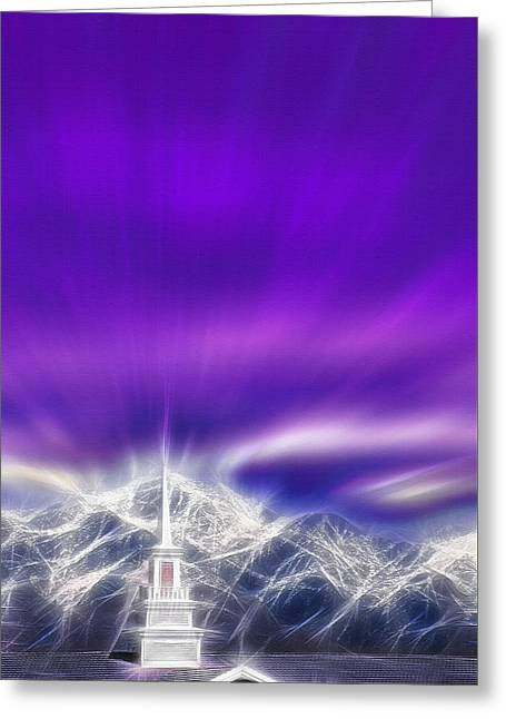 Church Steeple - Religious Freedom Greeting Card by Steve Ohlsen