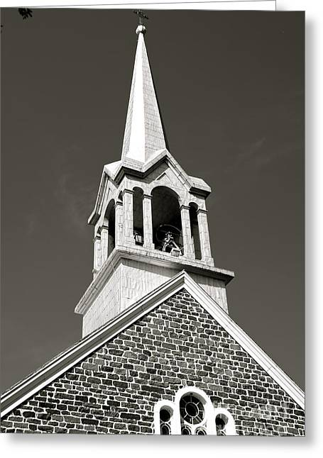 Greeting Card featuring the photograph Church Steeple by Sarah Mullin