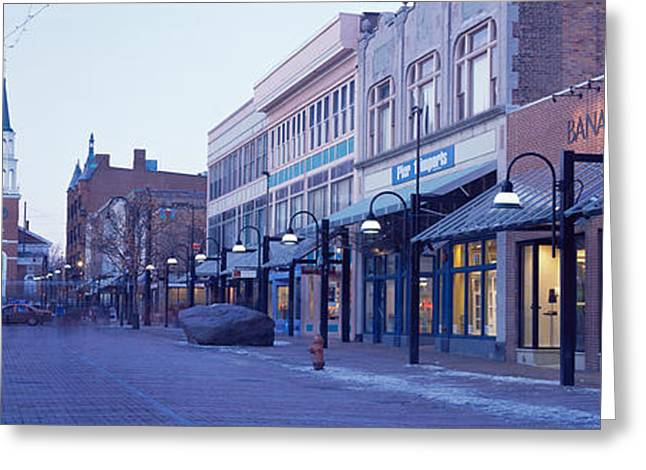Church Street Greeting Cards - Church Street, Burlington Vermont, Usa Greeting Card by Panoramic Images
