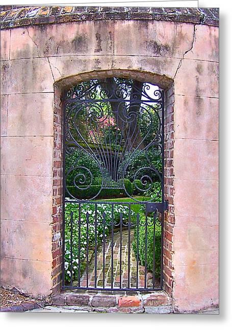 Church Street Garden Gate Greeting Card by Lori Kesten