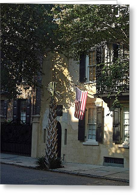 Church Street In Charleston Vertical Greeting Card by Suzanne Gaff