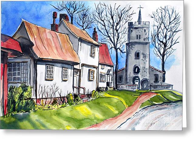 Church Street Greeting Card by Terry Banderas