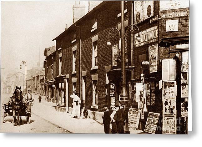 Church Street Warrington England Greeting Card by The Keasbury-Gordon Photograph Archive