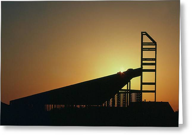 Church Structure At Sunrise Greeting Card