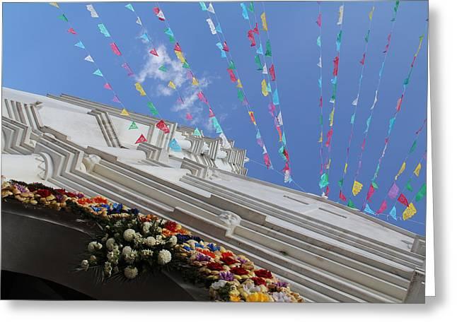 Church Temalacatzingo Mexico Greeting Card by Linda Queally
