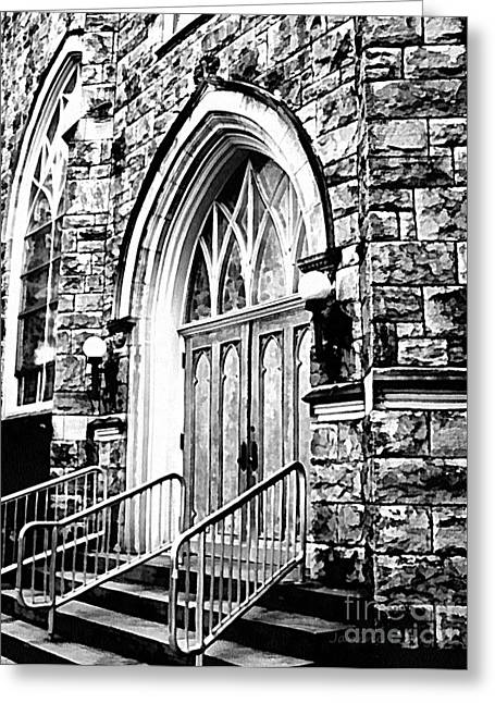 Church Timeless Appeal Greeting Card by Janine Riley