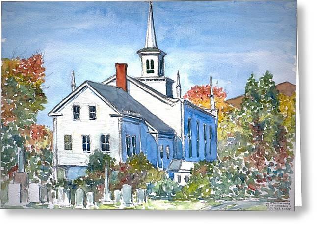 Church Vermont Greeting Card