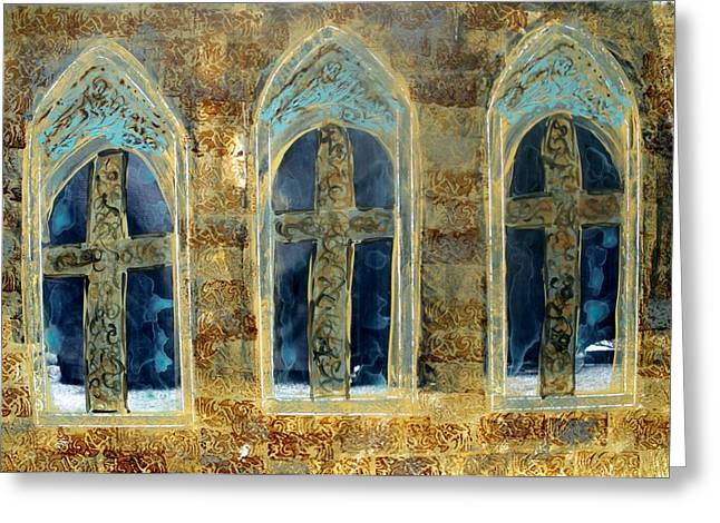 Church Windows Greeting Card