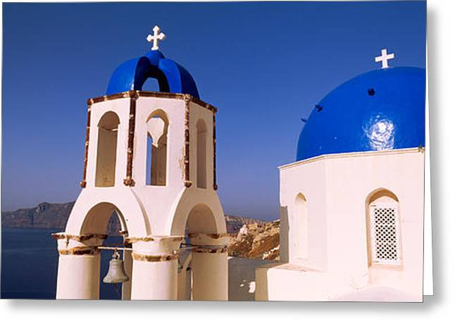 Church With Sea In The Background Greeting Card by Panoramic Images