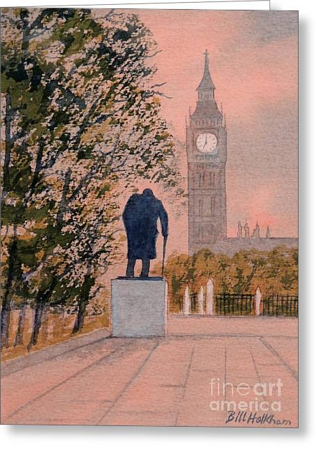 Churchill And Big Ben Greeting Card